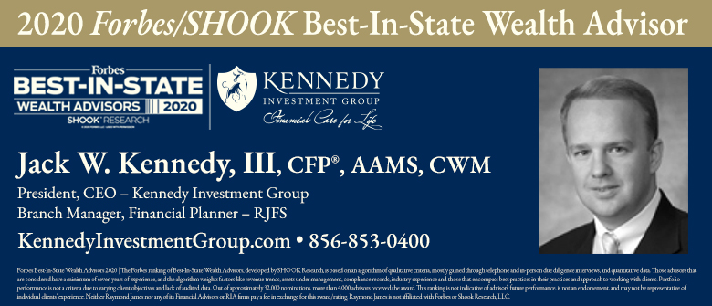 Kennedy Investment Group's Jack W. Kennedy III Named to Forbes' List of Top Wealth Advisors